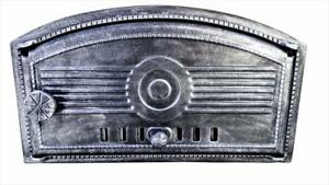 Cast Iron Fire Door Clay Bread Oven Pizza Stove Fireplace Silver Zn 48 5 X 27 5
