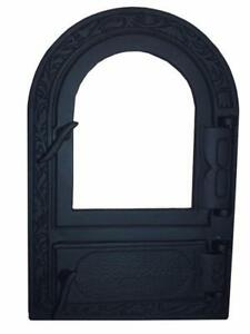 Cast Iron Fire Door Clay Bread Oven Pizza Stove Fireplace Black Py 50 X 33