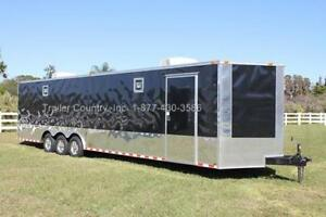 New 2018 8 5 X 32 8 5x32 Enclosed Race Cargo Car Hauler Trailer Loaded