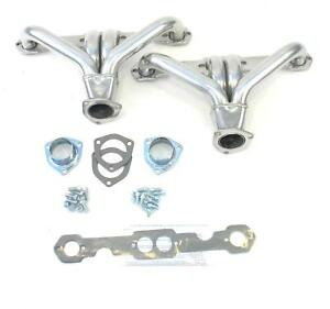 Patriot Tight Tuck Street Rod Headers Shorty Silver Ceramic 1 5 8 Tubes H80371