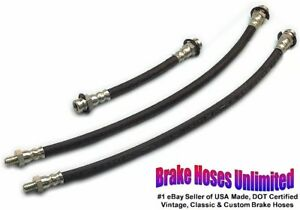 Brake Hose Set Ford Deluxe Super Deluxe 1939 1940 1941 1942 1946 1947 1948