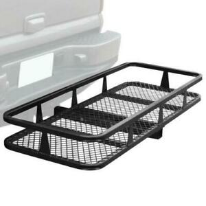 60 Luggage Basket Tray Hitch Mounted Cargo Carrier Waterproof Bag Combo