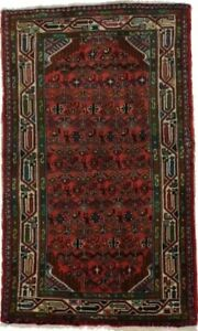 Lovely Hand Knotted Small Size Hamadan Persian Rug Oriental Area Carpet 2 6x4 2