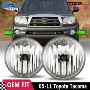 For Toyota Tacoma 05 11 Factory Bumper Replacement Fit Fog Lights Clear Lens