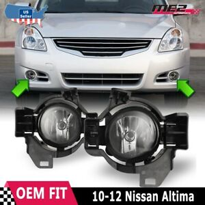 For Nissan Altima 10 12 Factory Replacement Fog Lights Wiring Kit Clear Lens