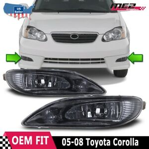 02 04 Toyota Camry Oe Style Replacement Fit Fog Lights Wiring Kit Smoke Lens