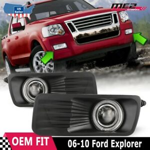 For Ford Explorer 05 09 Factory Replacement Halo Projector Fog Light Clear Lens