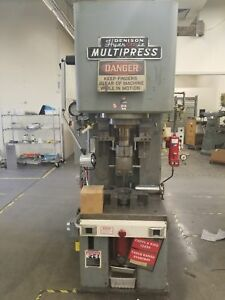Denison C frame Hydraulic 50 Ton Multipress Press With Updated Controls