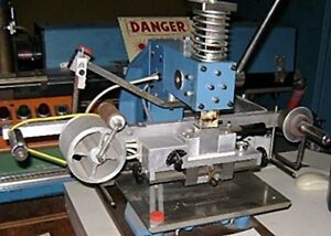 Franklin Model 115 Hot Stamp Marking Machine Manually Operated