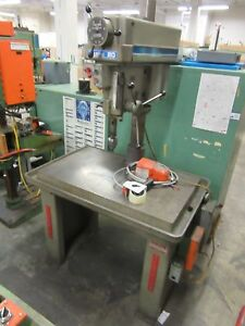 Clausing Model 2287 20 Drill Press With Heavy Duty Factory Stand