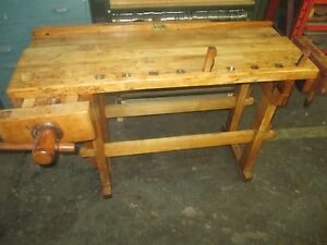 Antique Hammacher Schlemmer Woodworker s Bench Workbench