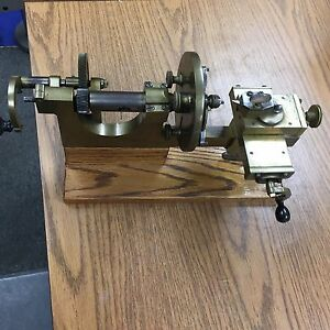 Antique Bench Model Jeweler s Watchmaker s Hand Operated Lathe Circa 1860