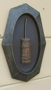 Primitive Wood Butter Churn Acrylic Plaque Vintage Wall Decor Free Shipping