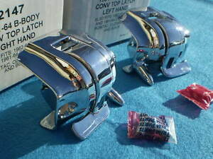 New 1961 1964 Impala Nova Pontiac Cadillac Buick Oldsmobile Convertible Latches