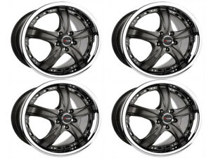 Drag Wheels Dr15 18x7 5 4x114 Prelude 92 93 94 95 96 97 Gunmetal Set Of 4 Rims