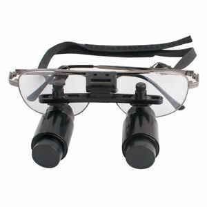 6 5x Dental Loupe Medical Surgical Binocular Loupes Magnifying Glass 300 500mm