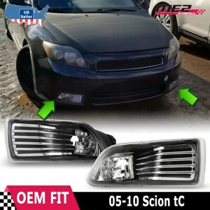 For Scion Tc 05 10 Factory Replacement Fit Fog Lights Wiring Kit Clear Lens