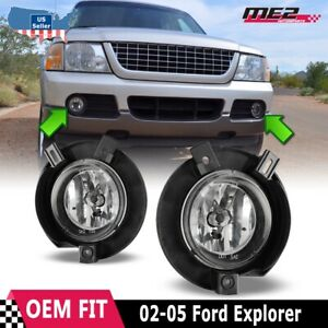 For Ford Ranger 01 03 Factory Bumper Replacement Fit Fog Lights Clear Lens