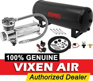 3 Gal Air Tank 200psi Chrome Compressor System Kit Car truck Air Ride Suspension
