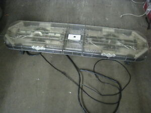 Whelen Justice Lightbar 50 White Amber Led Patterns W Control Switch Towing