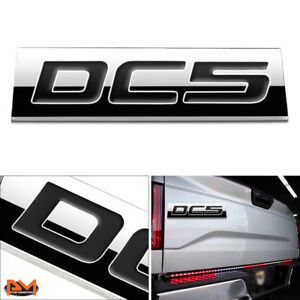 dc5 Polished Metal 3d Decal Black Emblem Exterior Badge For 02 06 Acura Rsx