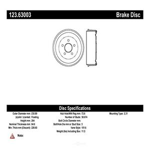Brake Drum Fits 1965 1972 Plymouth Barracuda Duster Centric Parts