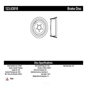 Brake Drum Fits 1970 1972 Plymouth Duster Centric Parts