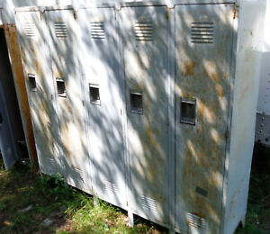 Set 6 Door Gym Employee Lockers 66 Tall medart Needs Tlc 1 Door Needes Hinge