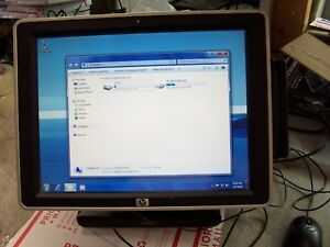 Hp Ap5000 Pos 15 Touchscreen Back Lcd Computer 2 8ghz 3gb With Ac Adapter