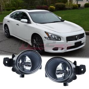 For Nissan Maxima 07 15 Factory Bumper Replacement Fit Fog Lights Clear Lens