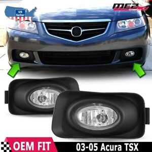 For Acura Tsx 04 05 Factory Replacement Fit Fog Lights Wiring Kit Clear Lens