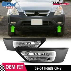 For Honda Cr v 02 04 Factory Replacement Fit Fog Lights Wiring Kit Clear Lens