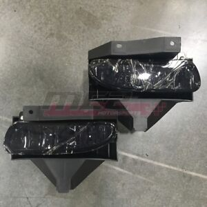 For Ford Mustang 1999 2004 Factory Bumper Replacement Fit Fog Lights Smoke Lens