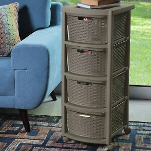 Rebrilliant Berrien 4 Drawer Rolling Storage Chest