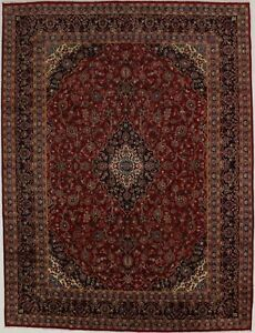 Semi Antique Traditional Handmade Vintage Persian Rug Oriental Area Carpet 10x13