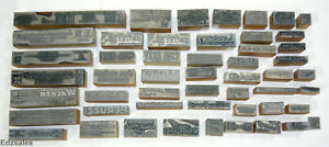 51 Vintage Letterpress Print Blocks Automotive Car Chevy Ford Mazda Jeep