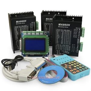 Cnc Kit 3 Axis Breakout Board With Display Keypad Pro Version 3x Ma860h Drivers