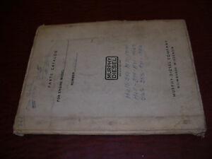 Murphy Diesel Engine Manual Parts Book Model 21