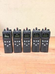 Lot Of 5 Macom Harris P5100 Radio Mahm 88dxx Features 1 4 7 8 9 10 21 22 23 30