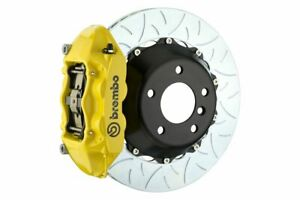 Brembo Gt Brake Kit Rear 380mm Slotted Type 3 4 Pot Yellow X5 E70 X6 E71 08 13