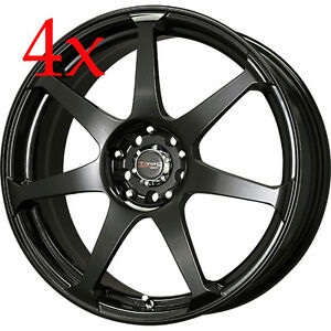 Drag Wheels Dr 33 14x5 5 4x100 4x114 35 Black Rims For Metro 180sx Colt Ek Eg