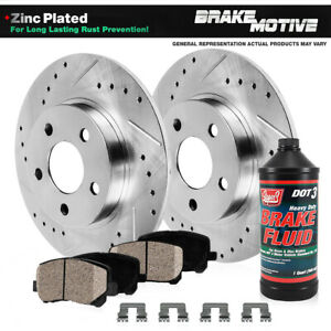 Rear Drill Slot Brake Rotors Ceramic Pads Fits Brz Impreza Forester Outback