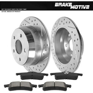 Rear Brake Rotors And Metallic Pads For 1999 2000 2001 2004 Jeep Grand Cherokee