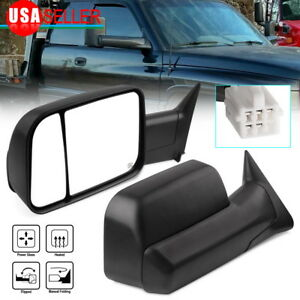 Latest Style Tow Mirrors For 98 01 Dodge Ram 1500 98 02 2500 3500 Power Heated