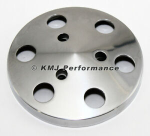 Polished Aluminum Sanden 508 Style A C Air Compressor Clutch Cover Faceplate