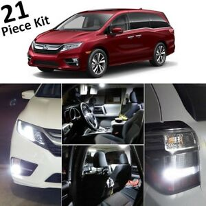 White Led Interior Exterior Lights Kit For 2018 2019 Honda Odyssey tool Ho4f