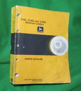 John Deere Loader Backhoe Parts Catalog 310e 310se And 315se