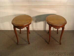 47340 Century Pair Of Cherry French Style End Tables