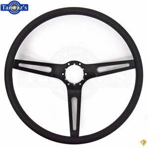 Chevelle Nova Camaro Impala Steering Wheel Black 3 Spoke W Black Comfort Grip