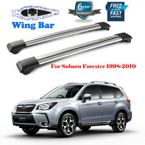 For Subaru Forester 1998 2010 Aluminum Roof Rack Cross Bar Luggage Carrier Usa
